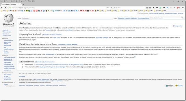 Wikipedia - Aufeating